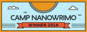 Camp NaNoWriMo Winner Banner - new series of stories blog post
